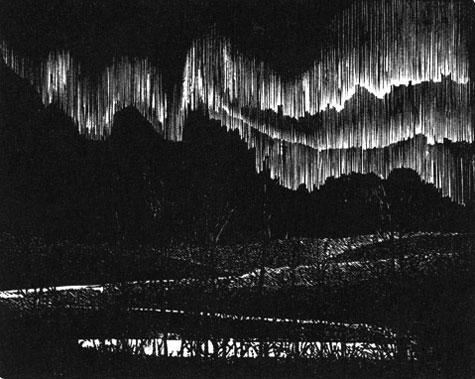aurora wood engraving
