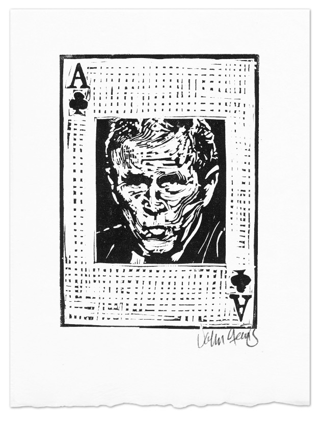 George Bush as the Ace of Clubs in the Axis of Weasels card deck