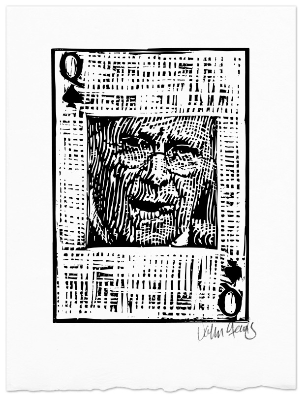 Donald Rumsfeld Queen of Spades playing card