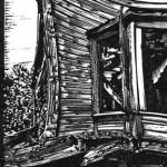 guns and ammo wood engraving