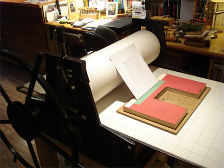 Relief Printing using Etching Press ~ Instructions on how to