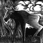 baby moose wood engraving