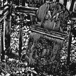 cemetary wood engraving